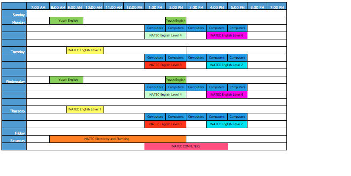 FunLimon Course Schedule
